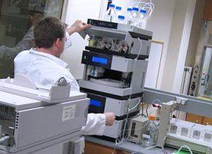 A scientist working on biologics