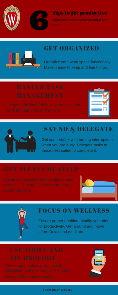 Infographic on 6 Tips for Productivity