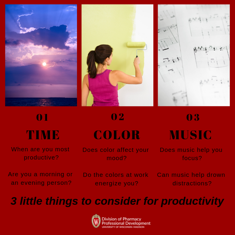 3 Little Things that can help productivity